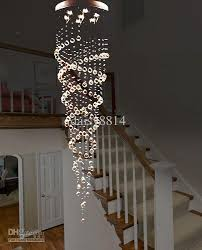 awesome long chandelier light holiday s suprise double crystal spiral design dia200