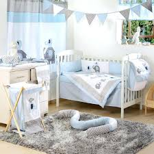 boy elephant nursery blue elephant crib collection 4 crib bedding set