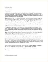 Letter From The Parent To Teacher New Teacher Letter To Parents
