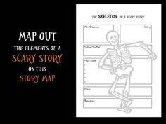 scary story graphic organizer graphic organizers students and  the skeleton of a scary story graphic organizer