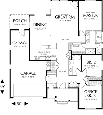 Phillipston   Bedrooms and   Baths   The House DesignersFirst Floor Plan