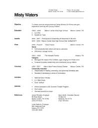 Caregiver Resume Samples 16 Child Sample Nanny Writing