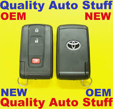 NEW OEM 2004-2009 Toyota Prius Smart Remote Key Silver Logo 89994 ...