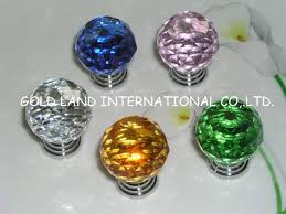 ... D40mm Free Shipping Blue Crystal Glass Kitchen Cabinet Knobs  /hottest Selling Cabinet Knob
