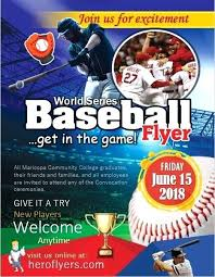 Free Baseball Flyer Template Baseball Flyer Download Tryout Template