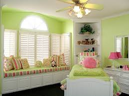 Bedroom:Lovely Pink and Green Girl Bedroom Designs Lovely Girl Room With  Small Green Comfort