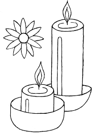 Small Picture Diwali Coloring Pages of Candles Coloring Pages
