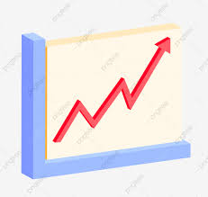 Uptrend Graph Analysis Illustration Line Chart Red Arrow