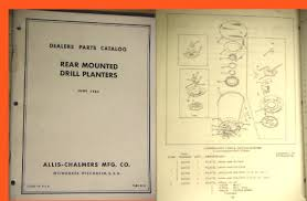 manuals photo allis chalmers partsbook for rear mounted planters for ca w wd wd 45 this manual shows various seed boxes for crops such as corn cotton peas