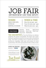 top 25 ideas about job fair interview nails job simple and clean informational flyer design for a culinary job fair by true food kitchen
