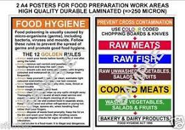 Food Hygiene Poster Food Hygiene Prevent Cross Contamination Kitchen Rules 2 A4