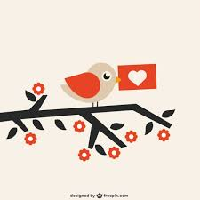 Love Letter Free Download Bird With Love Letter Vector Free Download