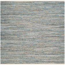 cape cod natural blue 6 ft x 6 ft square area rug