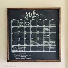 diy framed chalkboard calendar