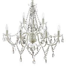 the original gypsy color extra large 9 light crystal chandelier h26 w27 white metal frame with clear acrylic crystals