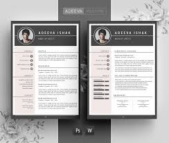 Modern Resume Template Shihab Resume Templates Creative Market