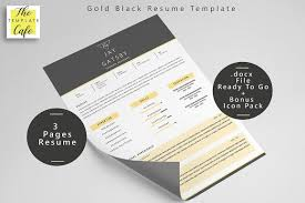 Black Gold Resume Template