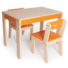 kids table and chairs orange kids wooden tables children little ones pkolino pkfftcorg pkfftco