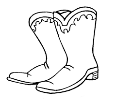 Small Picture Cowboy Boots Coloring Pages Coloring Page Blog