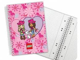 Bricklink Gear 5841b Lego Notebook Girls Graph Paper Spiral