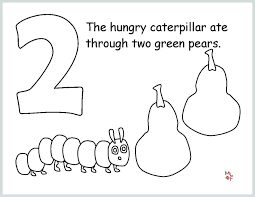 The Hungry Caterpillar Coloring Pages Very Page Free Fre Menotomyme