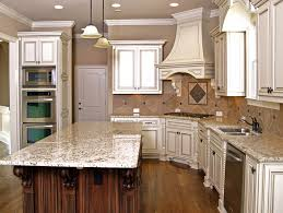Carved Wood Kitchen Island With Light Granite Counter Great Ideas