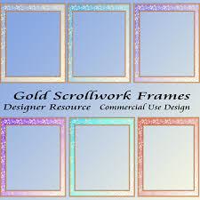 gold scrollwork frames png cu larger image