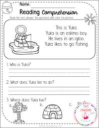 Chart Paper For Kindergarten Kindergarten Reading Comprehension Passages Winter The Free