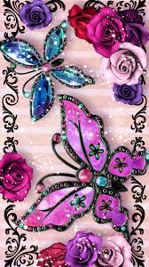 Wallpaper Butterfly Mobile - Rose ...