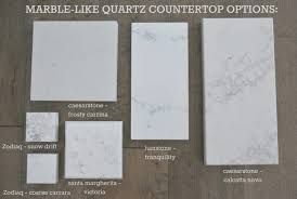 marble looking quartz.  Looking Marble Lookalike Quartz Countertop Options Via The Sweetest Digs For Marble Looking Quartz Q