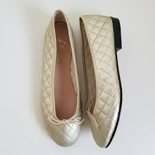 60% off French Sole Shoes - French Sole FSNY Metallic Gold Quilted ... & French Sole Shoes - French Sole FSNY Metallic Gold Quilted Ballet Flat Adamdwight.com