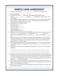 Loan Agreement Form Free Free Simple Loan Agreement PDF Template Form Download 4
