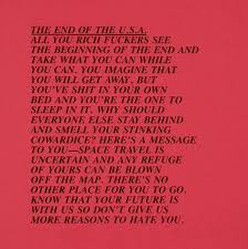 Jenny Holzer End Of The Usa Inflammatory Essay 1982