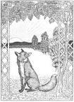 Раскраска басня ворона и лисица