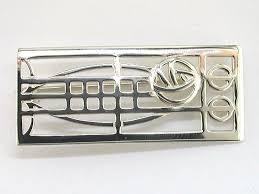 sterling silver rennie mackintosh rectangular brooch