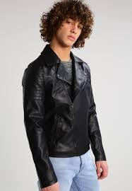 only sons onspuazy faux leather jacket black men clothing jackets only sons t shirts colorful and fashion forward