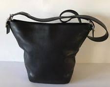 Coach Bleecker Black Leather Duffle Shoulder Bag