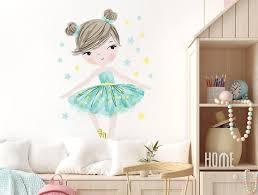 wall decor ballerina mint kids room