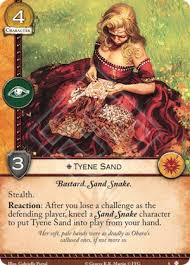 Sand Card Tyene Sand Sands Of Dorne A Game Of Thrones 2nd Edition A Game