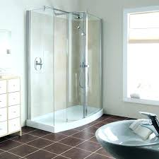 one piece corner shower stall units fiberglass stalls installing a tub combo