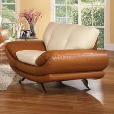 Tan Living Room Furniture Bonded Leather Living Room Chicago U335 Tan Cream