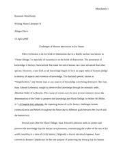 short story essay manchanda ramneek manchanda writing about  6 pages canticle essay