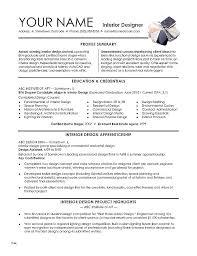 Interior Design Resume Sample Resume Interior Design Designer Resume ...