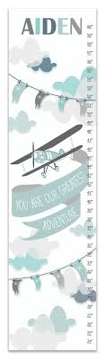 Tinsley Airplane Personalized Growth Chart