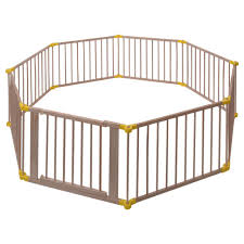 baby playpen 8 panel foldable wooden frame kids safety play fence in outdoor