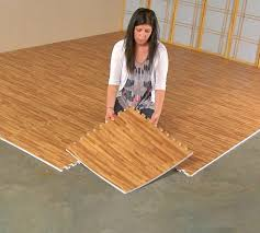 faux hardwood floor interlocking foam tiles 25 pack enlarge image