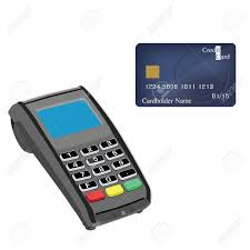Card Scanner Credit Card Machine And Credit Card Vector Illustration Credit