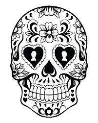 Sugar Skull Skeleton Coloring Pages Sugar Skull Skeleton Coloring