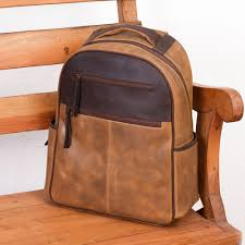 men s handcrafted brown leather backpack from mexico all terrain adventure