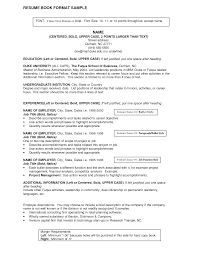 Job Title On Resume Example